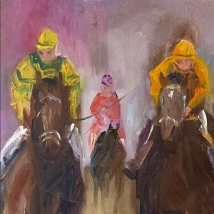 "Other - David Farmer original oil of ""Racing"""